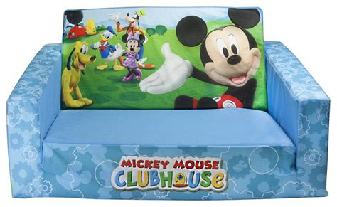 flip open sofa mickey mouse mickey mouse clubhouse flip open sofa with slumber