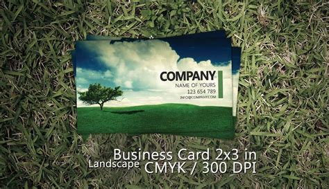 Landscape Card Template by 38 Free Psd Business Card Templates 85ideas