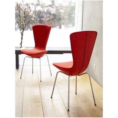 chaise norvegienne chaise design ergonomique en tissu et m 233 tal invite