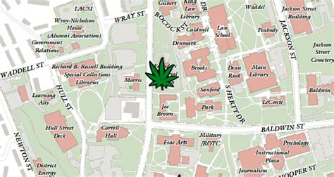 uga map maps 7 places to get baked on uga s cus