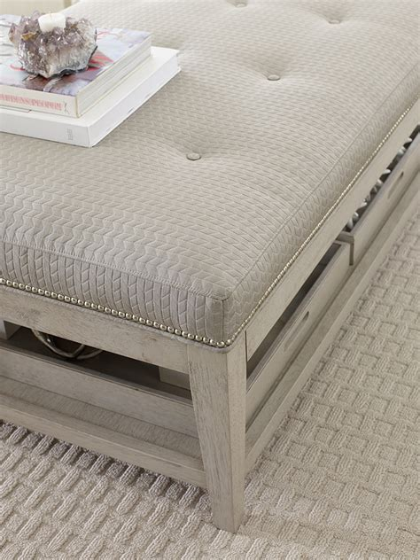 Ottoman With Removable Tray Cocktail Ottoman With Removable Trays Rachael
