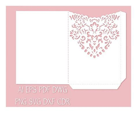 5x7 Invitation Card Template by Wedding Invitation Pocket Envelope 5x7 Template Cutting