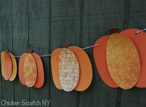 How To Make Paper Pumpkins - paper pumpkin banner
