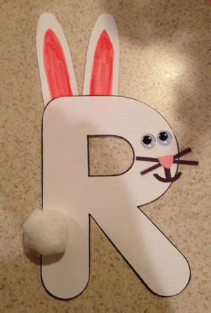 letter r rabbit craft all network