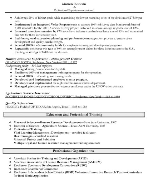 Human Resources Manager Resume Examples   Resume Format 2017