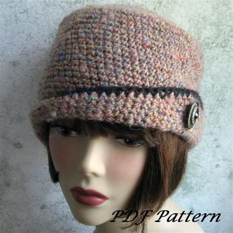 crochet hat pattern spiral rib with flapper style brim pdf
