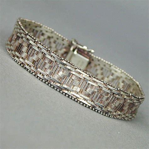Classe Bracelet Italy Designed vintage 925 sterling silver italian design flex bracelet