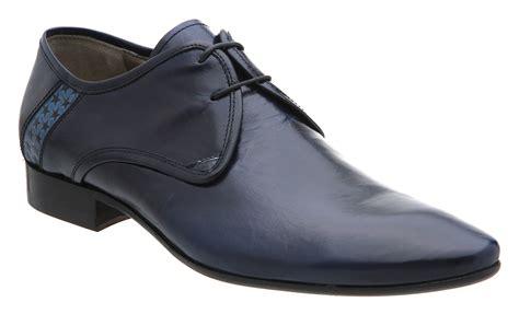 mens hudson neptune gibson blue leather formal shoes ebay