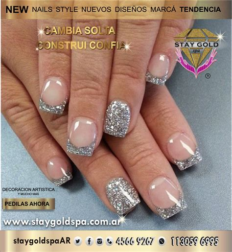 imagenes de uñas acrilicas con glitter silver glitter nails u 241 as acrilicas cerca de velez capital
