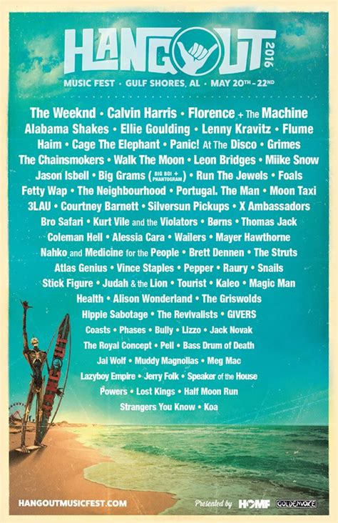 hangout festival reveals 2016 lineup consequence