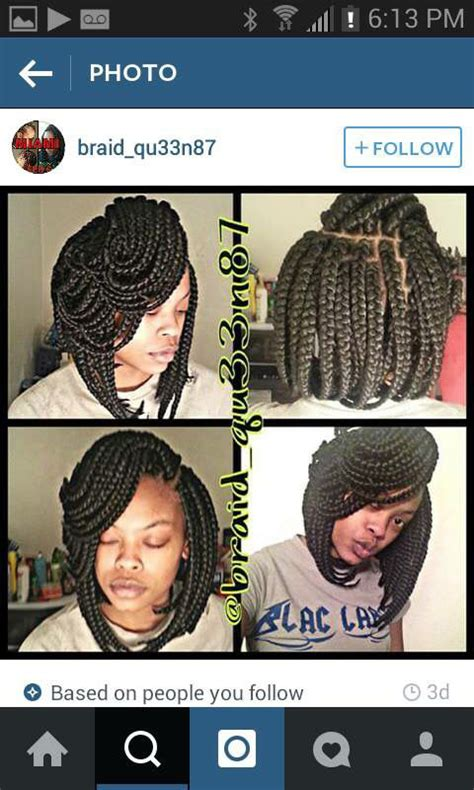 potic justice braids into a bob hairstyle poetic justice braids bob hair beauty pinterest