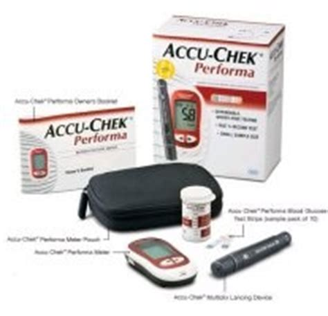 Lancing Device General Care accu chek performa blood glucose meter and lancing device
