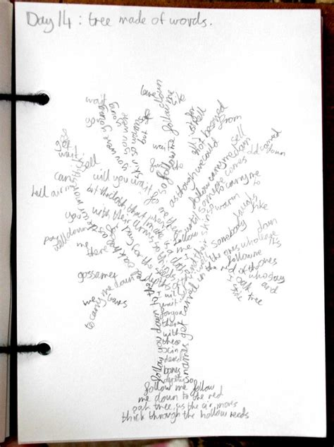 day 14 a tree made up of words by jade boylan