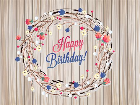 Floral Birthday Card Backgrounds Brown Cartoon Holiday Templates Free Ppt Backgrounds And Birthday Card Powerpoint Template