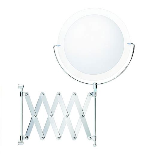 Wall Mounted Extendable Makeup Mirror In Wall Mirrors Wall Mounted Extendable Mirror Bathroom