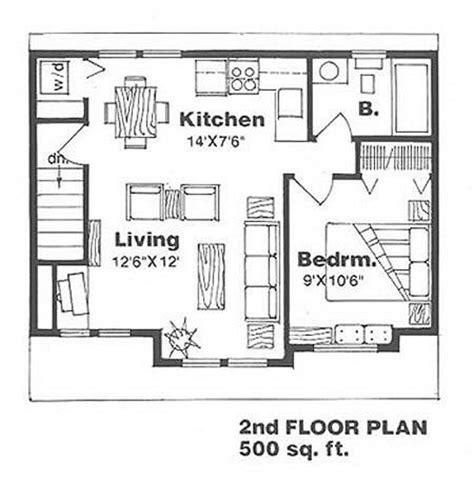 guest house plans 500 square sq ft 2018