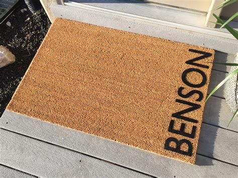 Custom Door Mats by Personalized Door Mat Welcome Mat Benson Style