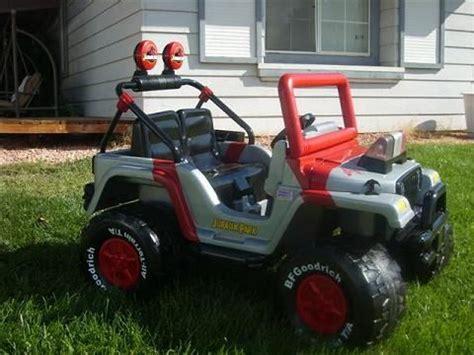 kids barbie jeep modified power wheels barbie jeep redone to jurassic