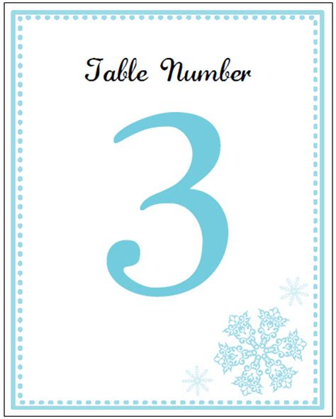 printable table number cards template printable snowflake wedding invitation kits
