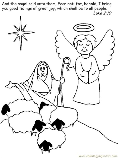 nativity angel coloring page nativity angel coloring pages
