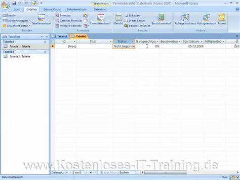 Vorlage Word Erstellen 2007 Access 2007 Tabellen Erstellen Mit Vorlage