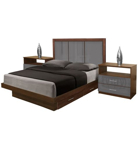 monte carlo bedroom furniture monte carlo queen size bedroom set w storage platform