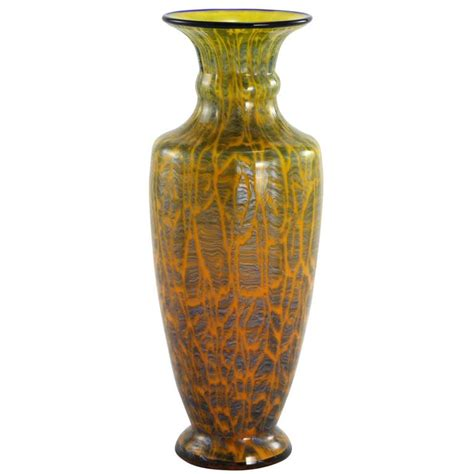 early 20th century bohemian deco glass vase by loetz