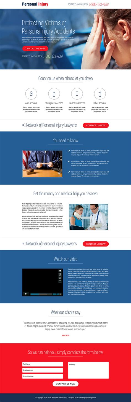 landing page design template personal injury landing page design 001 personal injury