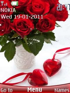 rose themes java download rose and heart nokia theme mobile toones