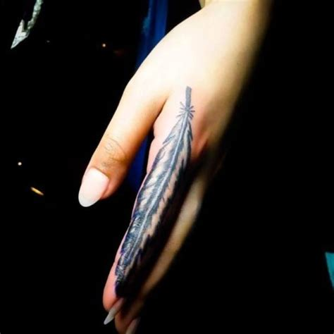 feather finger tattoo 28 feather finger tattoos