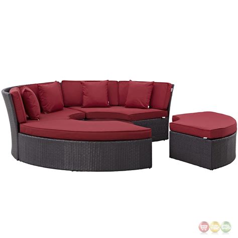 Daybed Cushions by Convene Modular Circular Outdoor Patio Daybed Set With