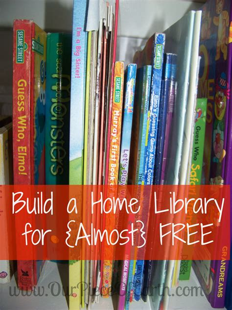 build a home books we how to build an almost free home library