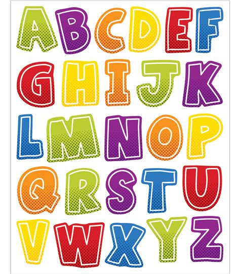 Halloween Decor Clearance Super Power Alphabet Uppercase Letters Shape Stickers