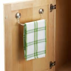 kitchen towel bars ideas forma adhesive towel bar the container store