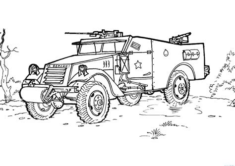 free coloring pages of army vehicle