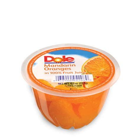 1 fruit cup calories dole mandarin oranges in 100 fruit juice dole philippines