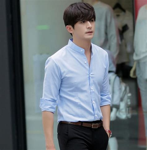 dress shirt picture more detailed picture about asian style dresses autumn and winter the chinese collar men s shirts white