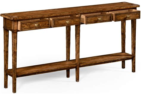 Country Living Style Walnut Four Drawer Console Table Country Style Sofa Table