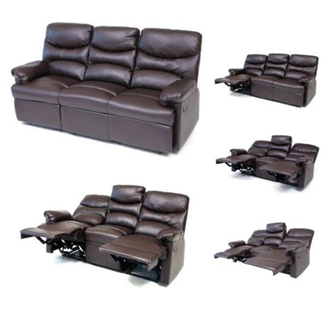 sofa with footrest sofa diana 3 seater brown recliner with footrest cm