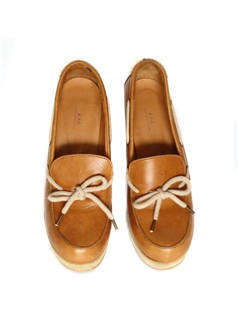 apc loafers louise apc camel brown leather and beige suede