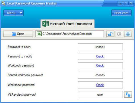 vba recovery password crack crack vba password recovery master v2 0 free castingdiet