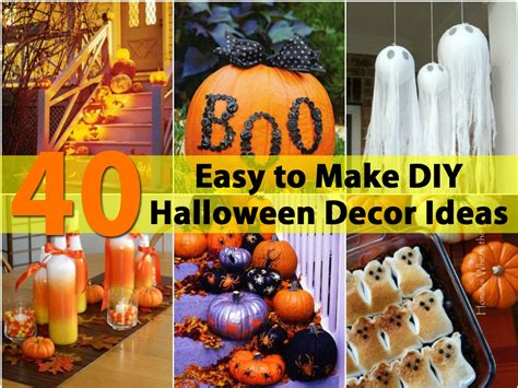 easy halloween decorations to make at home 40 easy to make diy halloween decor ideas diy crafts