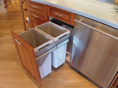kitchen cabinet bins trash bin hanging