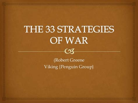 the 33 strategies of the 33 strategies of war final