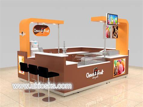stylish mall crepe food kiosk design  sale mall