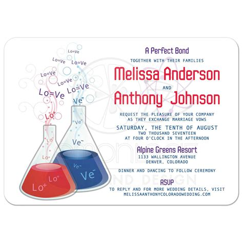 Card Lab Wedding Invitations by Bond Chemistry Wedding Invitation