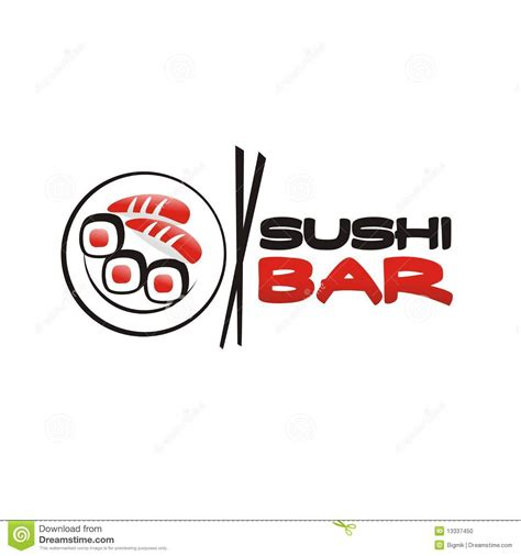 sushi bar logo stock photo image 13337450