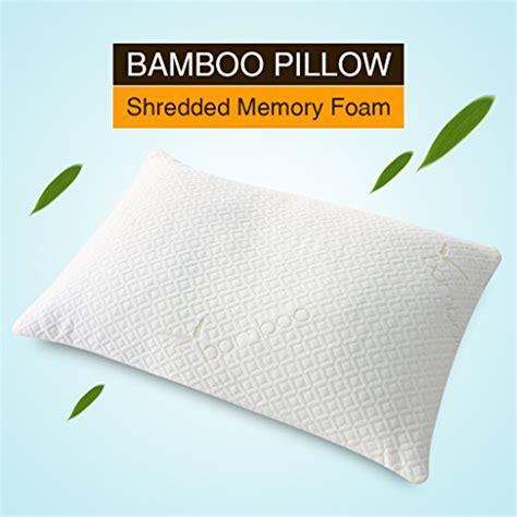 langria certified memory foam bed pillow with removable langria shredded memory foam pillow firm for optimal