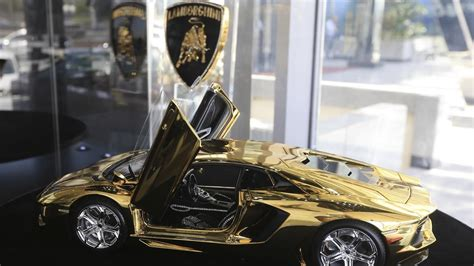 lamborghini gold and diamonds gold lamborghini aventador lp 700 4 model yours for 16