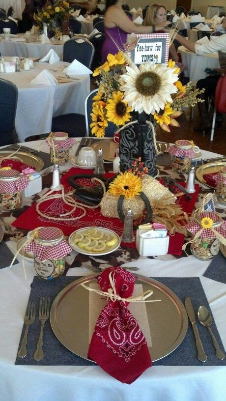 western table decorations western themed table decor for luncheon western theme
